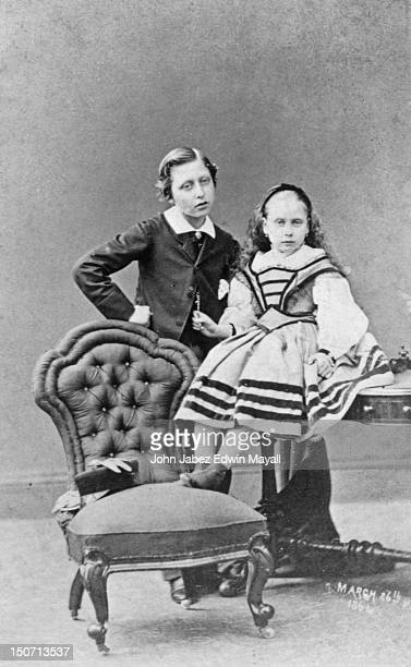 Prince Arthur Duke of Connaught with his sister Princess Beatrice of Battenburg 26th March 1861 They are the seventh and ninth children of Queen...
