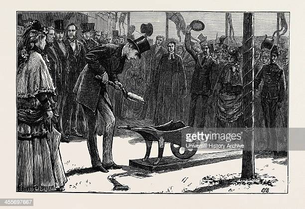Prince Arthur Turning The First Sod Of The Hythe And Sandgate Railway