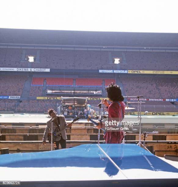 Prince at soundcheck, Feyenoord Stadium, Netherlands on October 17, 1988 in Rotterdam, Netherlands. 170612F1
