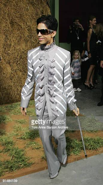 Prince attends the Chanel Pret a Porter show as part of the Paris Womenswear Fashion Week Spring/Summer 2010 at the Grand Palais on October 6, 2009...