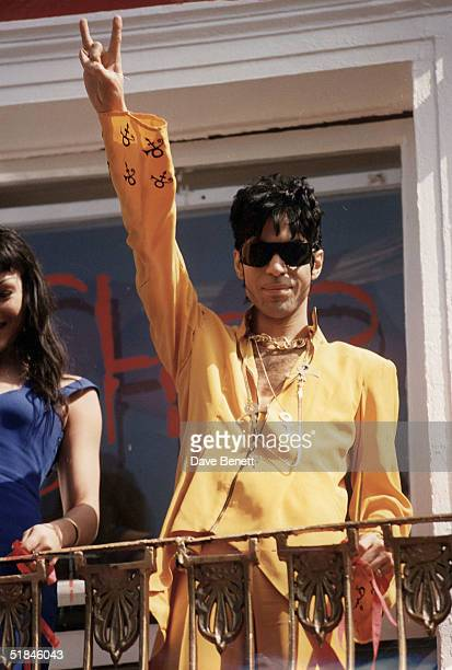 Prince attends the opening of his shop in Camden on May 03 1994 in London England