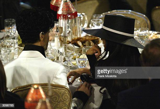 Prince attends the Rock Roll Hall Of Fame 19th Annual Induction Dinner at the Waldorf Astoria Hotel March 15 2004 in New York City