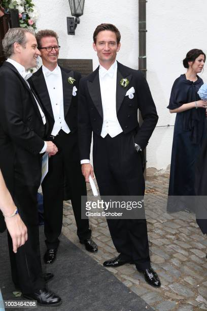 Prince AugustFrederik zu SaynWittgensteinBerleburg brother of the bride during the wedding of Princess Theodora zu SaynWittgensteinBerleburg and Earl...