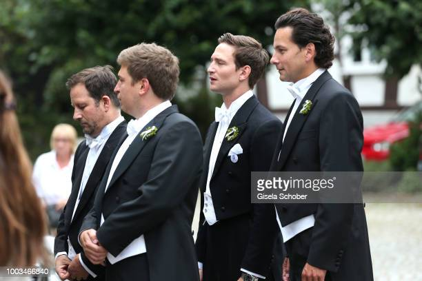 Prince AugustFrederik zu SaynWittgensteinBerleburg brother of the Bride Theodora zu SaynWittgensteinBerleburg during the wedding of Princess Theodora...
