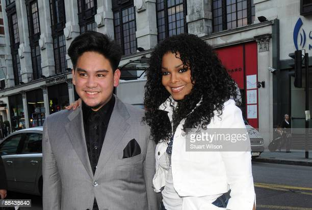Prince Azim of Brunei and Janet Jackson attend the launch party for Prince Azim at the MCM store on June 11 2009 in London England