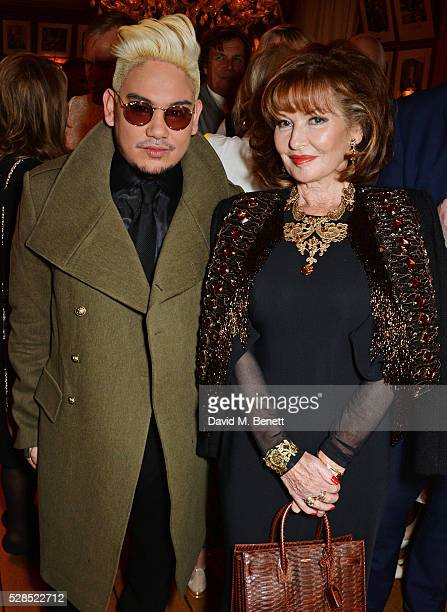 Prince Azim of Brunei and Stephanie Beacham attend the launch of Dame Joan Collins' new book 'The St Tropez Lonely Hearts Club' at Harry's Bar on May...