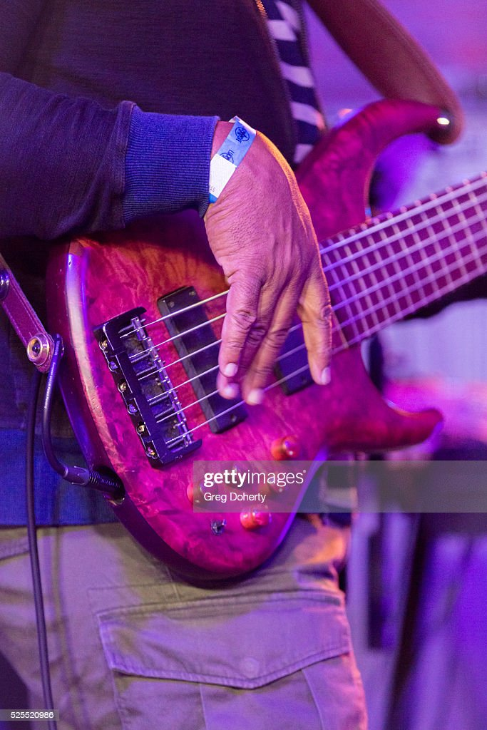 Prince Bassplayer Andrew Gouche performs at the Lucky Strike