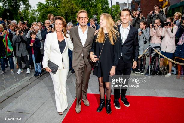Prince Bernard Princess Annette of The Netherlands and their children Isabella and Samuel attends the 80th birthday celebrations for Pieter van...