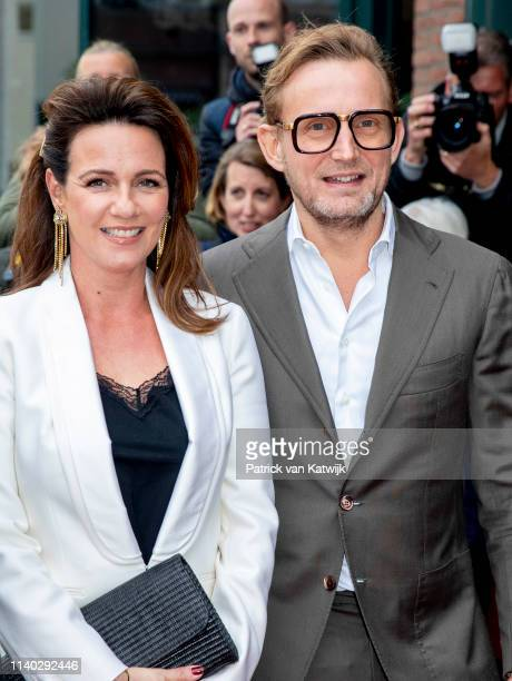 Prince Bernard Princess Annette of The Netherlands attends the 80th birthday celebrations for Pieter van Vollenhoven on April 30 2019 in Zeist...