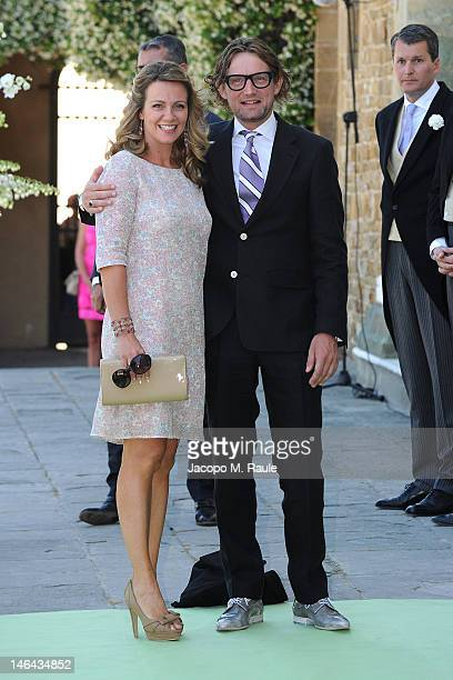 Prince Bernhard and Princess Annette of the Netherlands arrive for the Princess Carolina Church Wedding With Mr Albert Brenninkmeijer at Basilica di...
