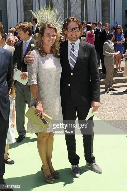 Prince Bernhard and Princess Annette of the Netherlands attend the Princess Carolina Church Wedding With Mr Albert Brenninkmeijer at Basilica di San...