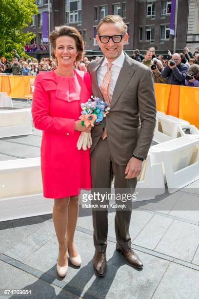 Prince Bernhard and Princess Annette of The Netherlands attend the King's 50th birthday during the Kingsday celebrations on April 27 2017 in Tilburg...