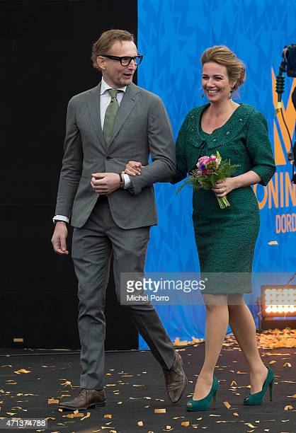 Prince Bernhard jr and Princess Annette of The Netherlands celebrate King's Day on April 27 2015 in Dordrecht Netherlands