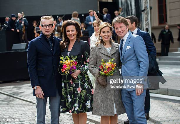 Prince Bernhard jr Princess Annette of The Netherlands Princess Anita and Prince Pieter Christiaan of The Netherlands attend King's Day the...