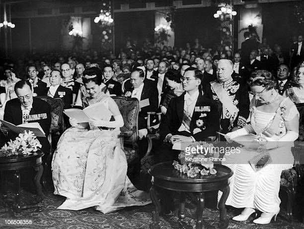 Prince Bernhard Of The Netherlands Queen Sirikit Of Thailand King Bhumibol And Queen Juliana Of The Netherlands At A Concert In The Hague