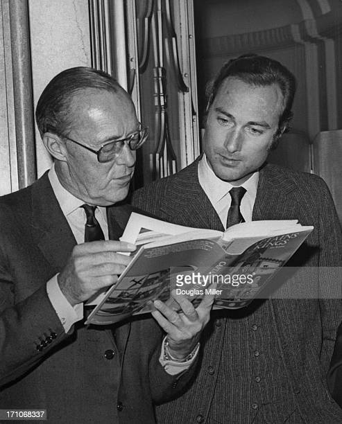 Prince Bernhard of the Netherlands with Prince William of Gloucester at Claridge's hotel, London, for the launch of Alan Bramson and Nevill Birch's...