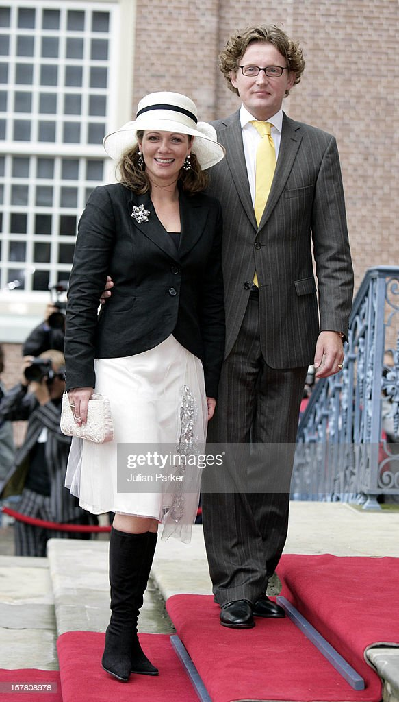 Prince Pieter-Christiaan & Anita Van Eijk Civil Wedding Ceremony In Apeldoorn : News Photo