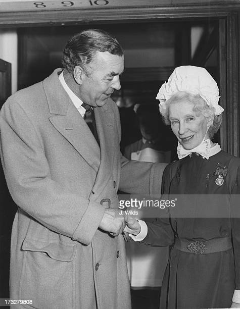 Prince Bertil of Sweden says goodbye to Matron Alice Saxby when leaving the King Edward VII Hospital where the Prince underwent a series of...