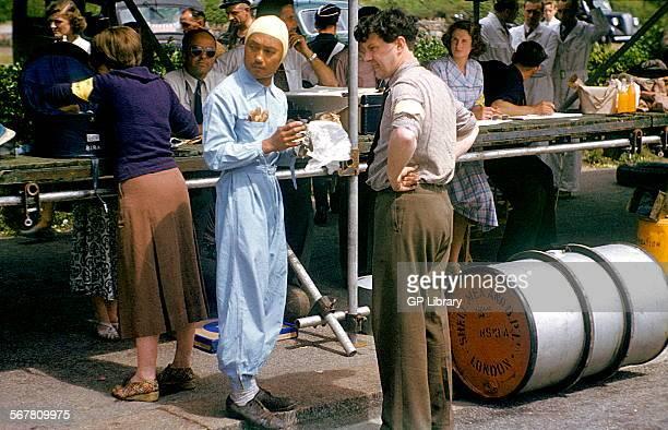 Prince Bira at the 1950 Jersey International Road Race