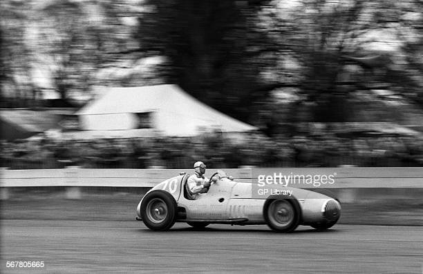 Prince Bira driving an OSCA V12 on it's debut at Goodwood England Easter 1951