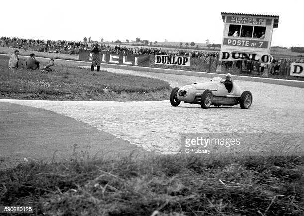 Prince Bira in a Gordini at the French GP in Reims 1949