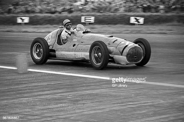 Prince Bira in the OSCA V12 Formula Libre supporting race to British Grand Prix Silverstone England 1952
