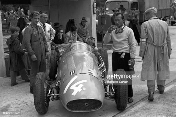 Prince Bira Maserati 250F Grand Prix of Germany Nurburgring 01 August 1954 Prince Birabongse Bhanudej Bhanubandh better known as 'Prince Bira' the...