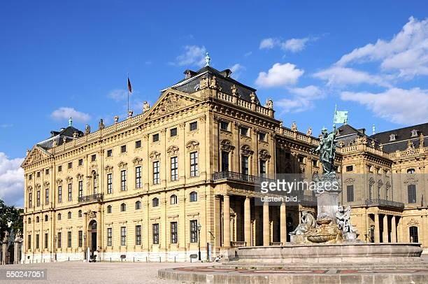 Prince Bishop's Residenz View the Ehrenhofseite with the Frankoniabrunnen Since 1981 the Baroque castle is a UNESCO World Heritage Site
