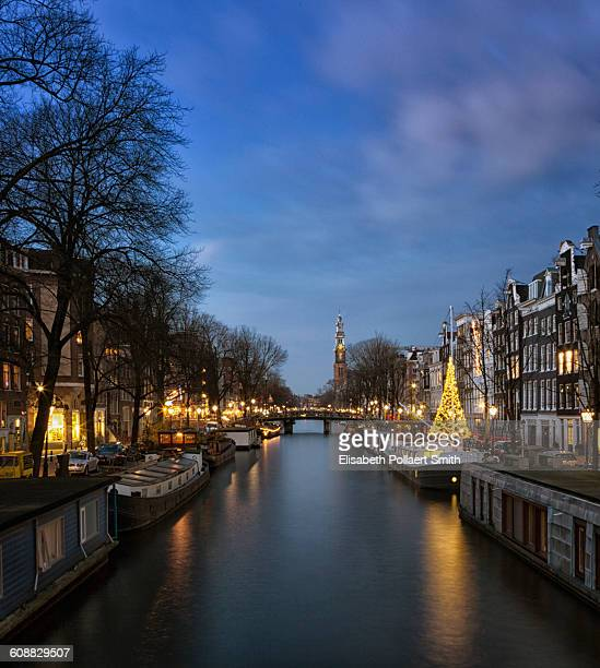 Prince Canal, with Christmas tree and West Church