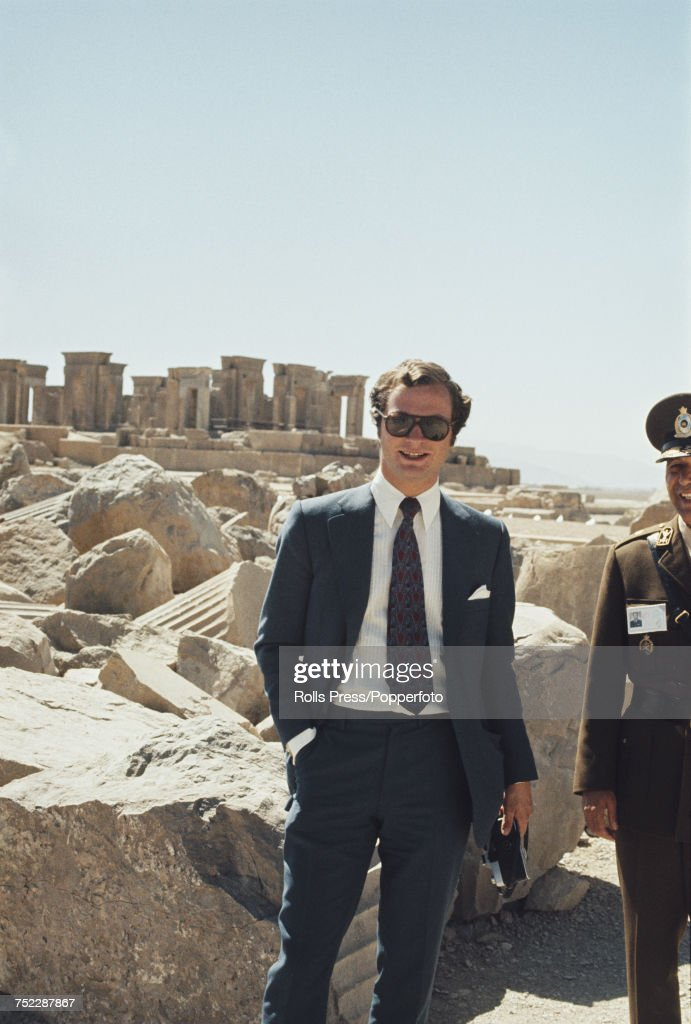 Prince Carl Gustaf Of Sweden In Iran : News Photo