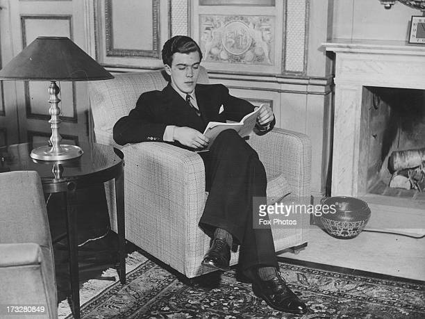 Prince Carl Johan of Sweden studies in his sittingroom at the Royal Palace Stockholm circa 1938