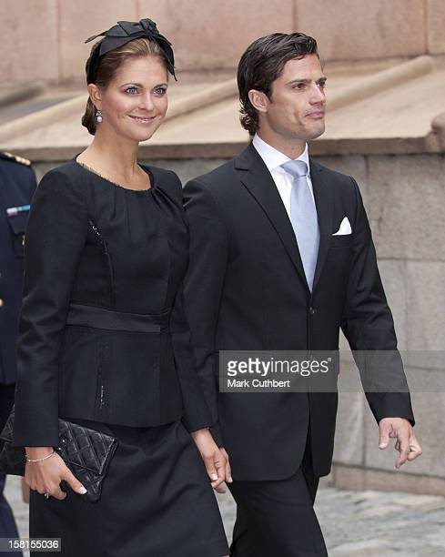 Prince Carl Philip And Princess Madeleine Of Sweden At A Service In Connection With The Opening Of The Parliamentary Session Stockholm Cathedral...