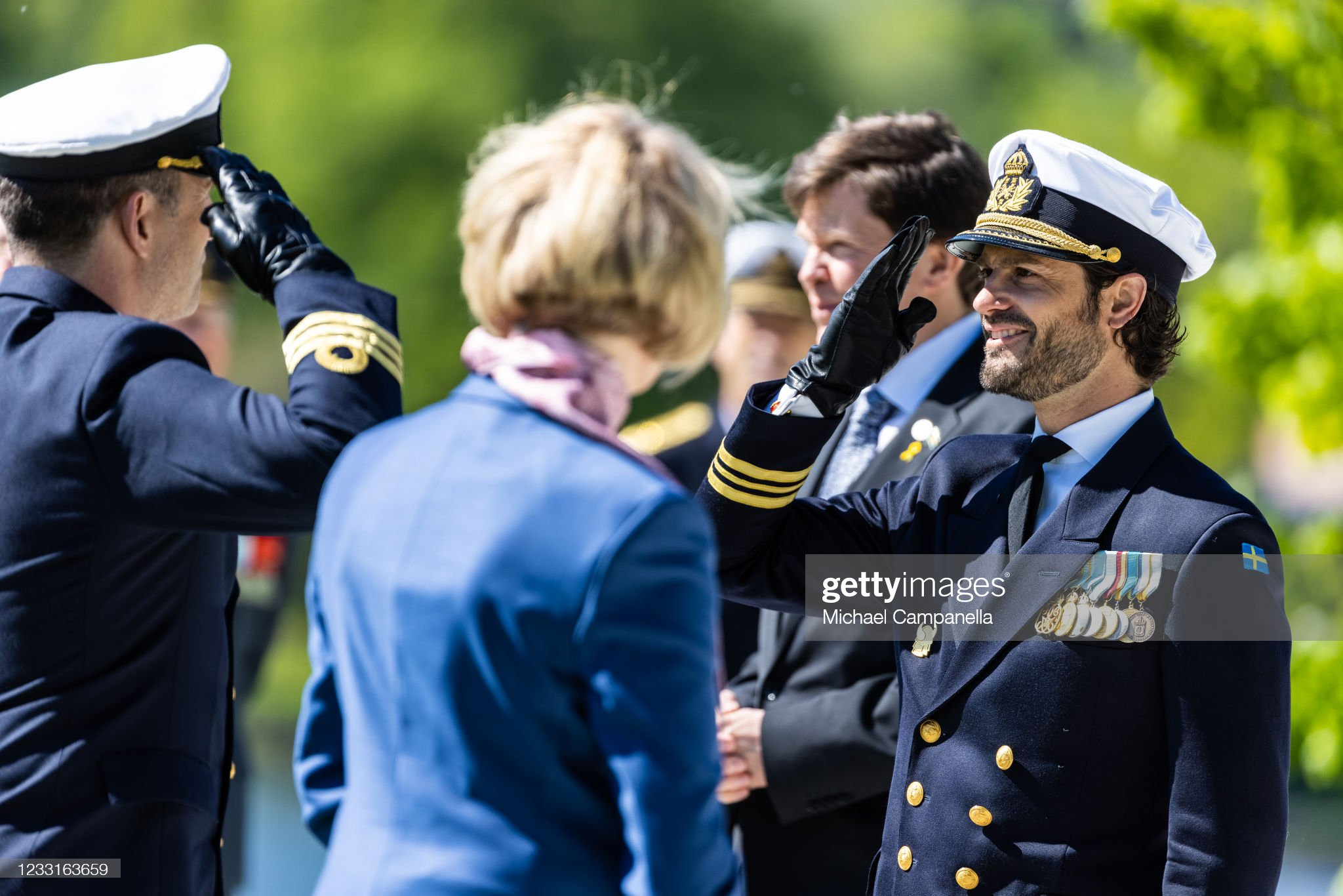 Swedish Royals Attend The Celebration Of Veterans Day : News Photo