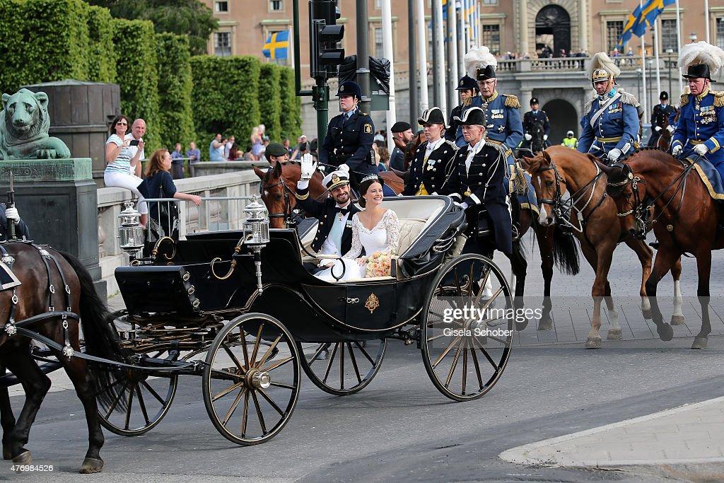 Departures & Cortege: Wedding Of Prince Carl Philip And Princess Sofia Of Sweden : News Photo