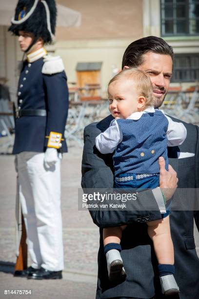Prince Carl Philip of Sweden and Prince Alexander arrive for a thanksgiving service on the occasion of The Crown Princess Victoria of Sweden's 40th...