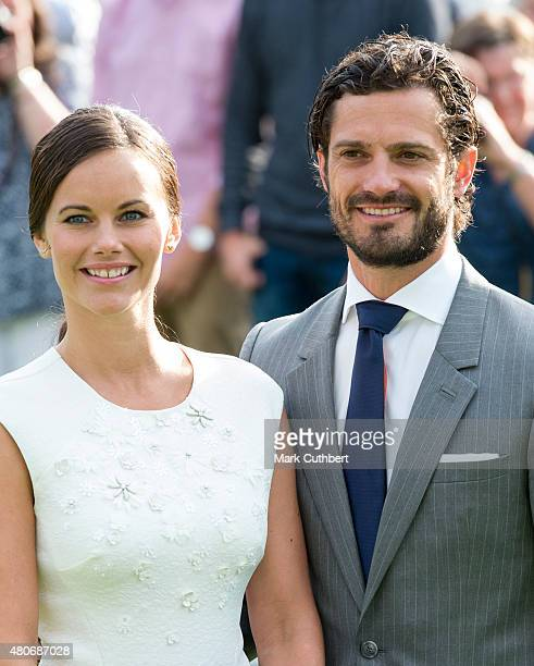 Prince Carl Philip of Sweden and Princess Sofia of Sweden attend a concert at the 38th birthday celebrations for Crown Princess Victoria on July 14...