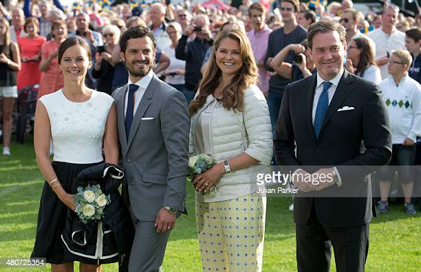 Prince Carl Philip of Sweden and Princess Sofia of Sweden Princess Madeleine and husband Christopher O'Neill attend a Concert in Borgholm to...