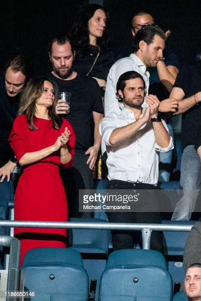 Prince Carl Philip of Sweden and Princess Sofia of Sweden seen during an Avicii tribute concert to raise awareness for mental health at Friends Area...
