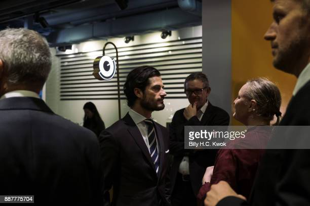 Prince Carl Philip of Sweden attends a seminar on design and creativity conducted in collaboration between the Consulate General Business Sweden and...