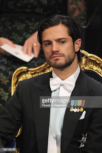 Prince Carl Philip of Sweden attends the 2012 Nobel Prize Award Ceremony at Concert Hall on December 10 2012 in Stockholm Sweden