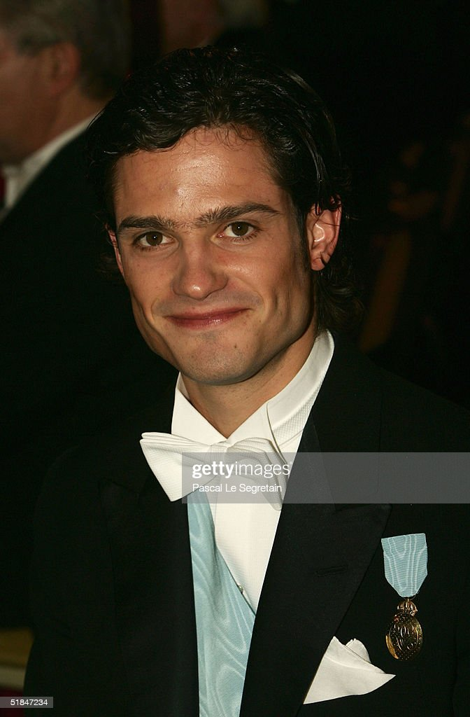 Prince Carl Philip of Sweden attends the Nobel Banquet at City Hall on December 10, 2004 in Stockholm, Sweden. The prizes were being awarded at simultaneous ceremonies in Stockholm and Oslo, Norway.