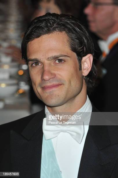 Prince Carl Philip of Sweden attends the Nobel Banquet at the City Hall on December 10 2011 in Stockholm Sweden
