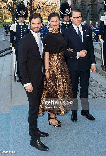 Prince Carl Philip of Sweden Crown Princess Victoria of Sweden and Prince Daniel of Sweden arrive at the Nordic Museum to attend a concert of the...