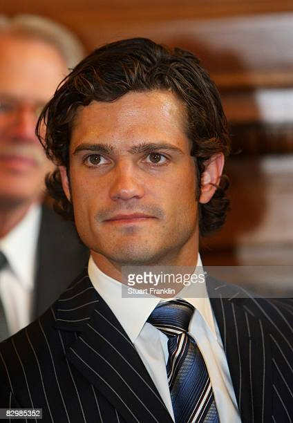 Prince Carl Philip Of Sweden during his visit to sign the golden book at Hamburg's Rathaus on September 24, 2008 in Hamburg, Germany.