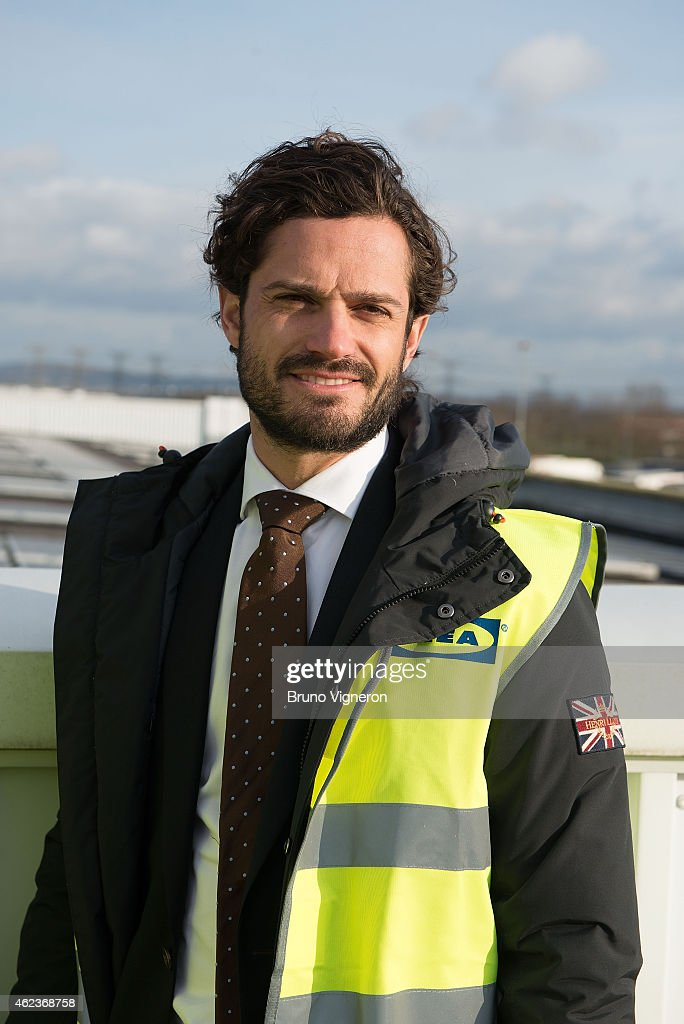 Prince Carl Philip Of Sweden On A 2 Day Visit : Day 1 In Lyon