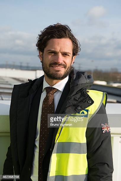 Prince Carl Philip of Sweden have visited the central warehouse of Ikea to SaintQuentinFallavier and showed himself very interested in the...