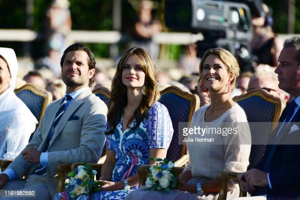 Prince Carl Philip of Sweden Princess Sofia of Sweden Princess Madeleine of Sweden are seen on the occasion of The Crown Princess Victoria of...