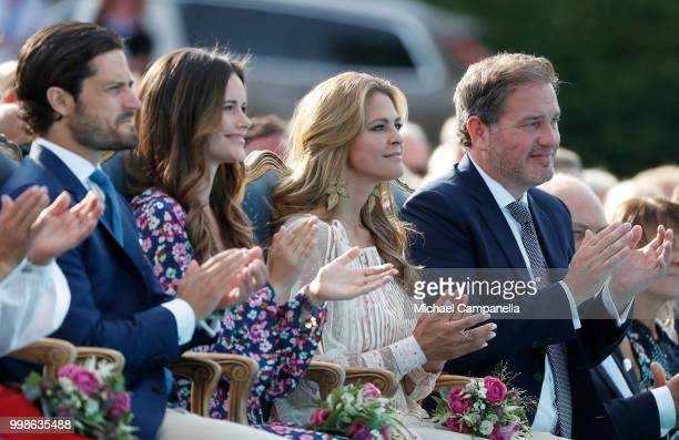 Prince Carl Philip of Sweden Princess Sofia of Sweden Princess Madeleine of Sweden and her husband Chris O'Neill during the occasion of The Crown...