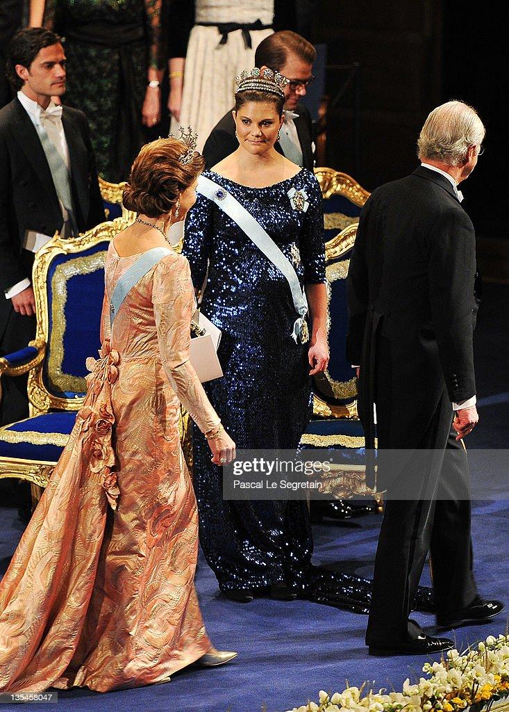 Nobel Prize Award Ceremony 2011 : News Photo