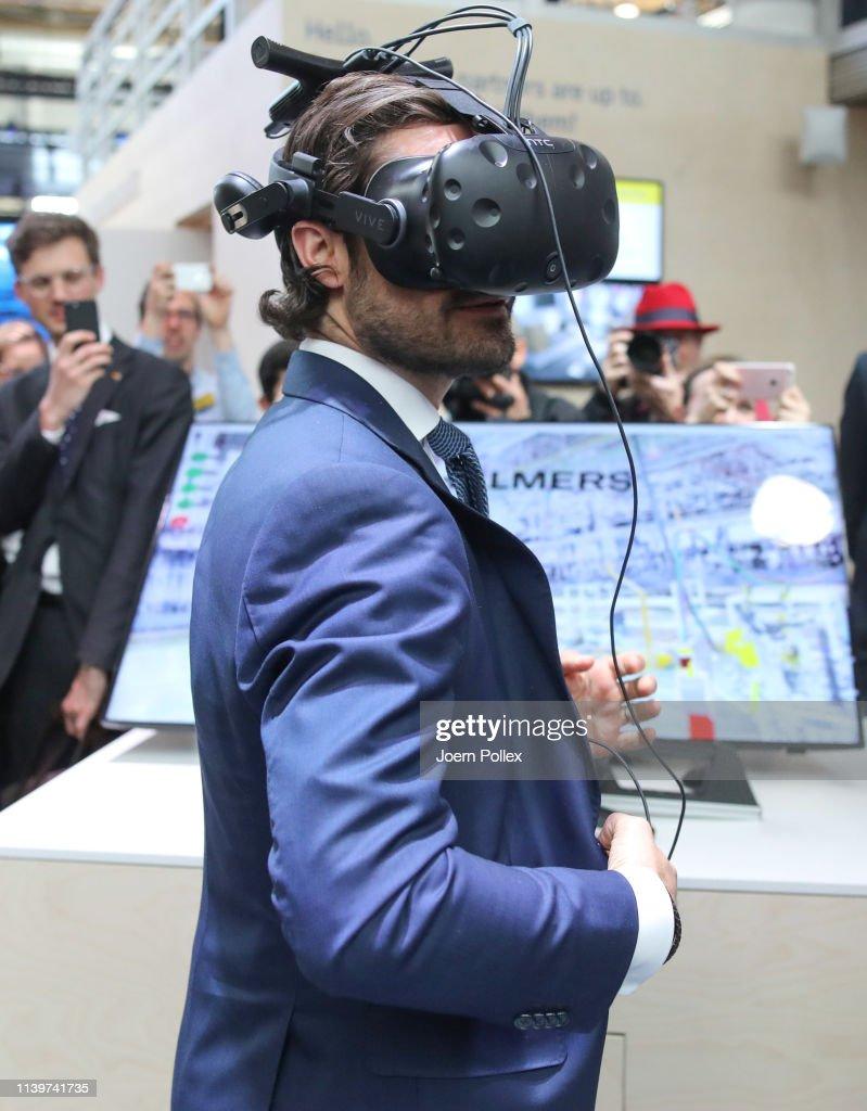 DEU: Prince Carl Philip Of Sweden Visits Hannover Messe 2019